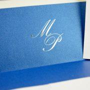B1230 invitacion de boda detalle forro azul