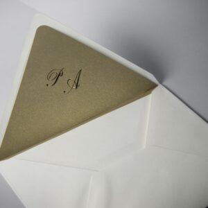 B1231 invitacion de boda forro dorado