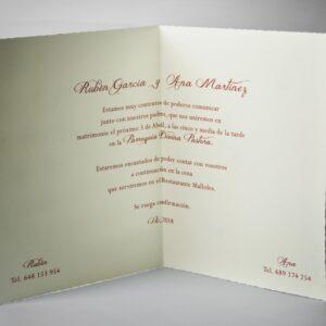 B1233 invitacion de boda