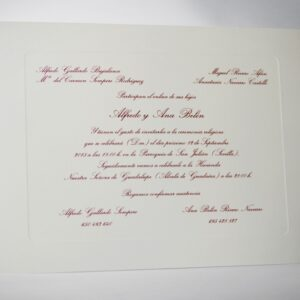 B1237 invitacion de boda