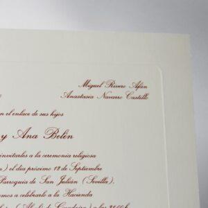 B1237 invitacion de boda detalle