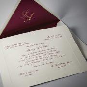 B1237 invitacion de boda y sobre