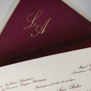 B1237 invitacion de boda y sobre detalle