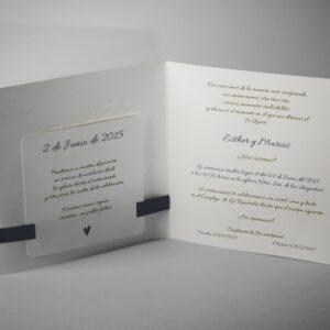 B101565AZ invitacion de boda abierta