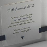 B101565AZ invitacion de boda abierta detalle