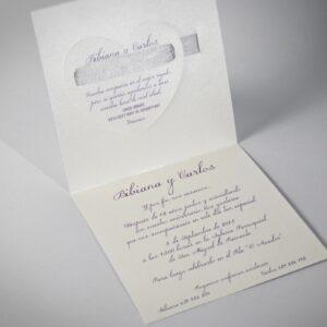 B1349 invitacion de boda interior