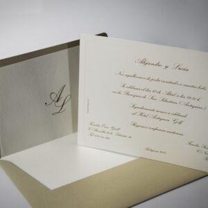 B1425 invitacion de boda y sobre