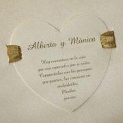 B1569 invitacion de boda abierta detalle