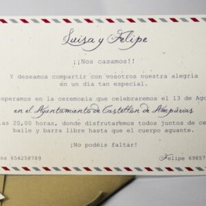 B1575 invitacion de boda tarjeta