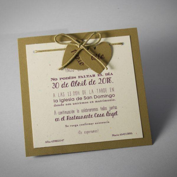 B1576 invitacion de boda