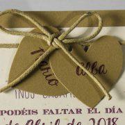 B1576 invitacion de boda detalle