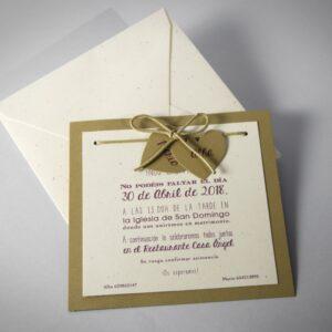 B1576 invitacion de boda y sobre