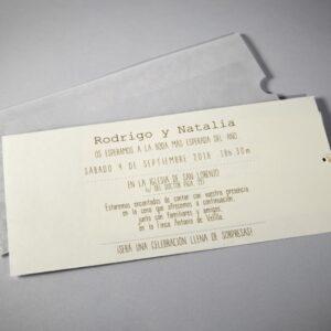 B1602 invitacion de boda