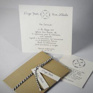 B1604 invitacion de boda abierta