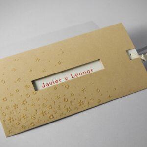 Invitacion de boda B1606