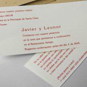 B1606 invitacion de boda abierta detalle