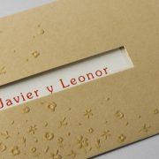 B1606 invitacion de boda detalle