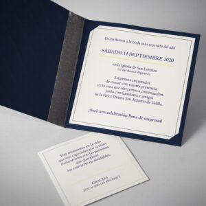 B1608 invitacion de boda abierta