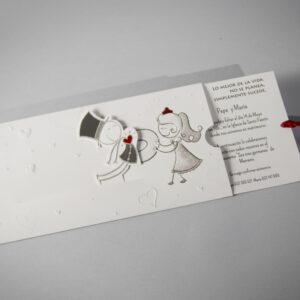 B1609 invitacion de boda abierta