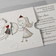 B1609 invitacion de boda abierta detalle