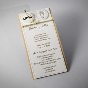 Invitacion de boda B1611