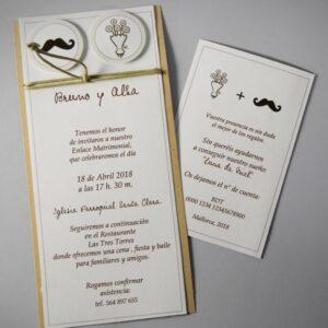 B1611 invitacion de boda tarjetas
