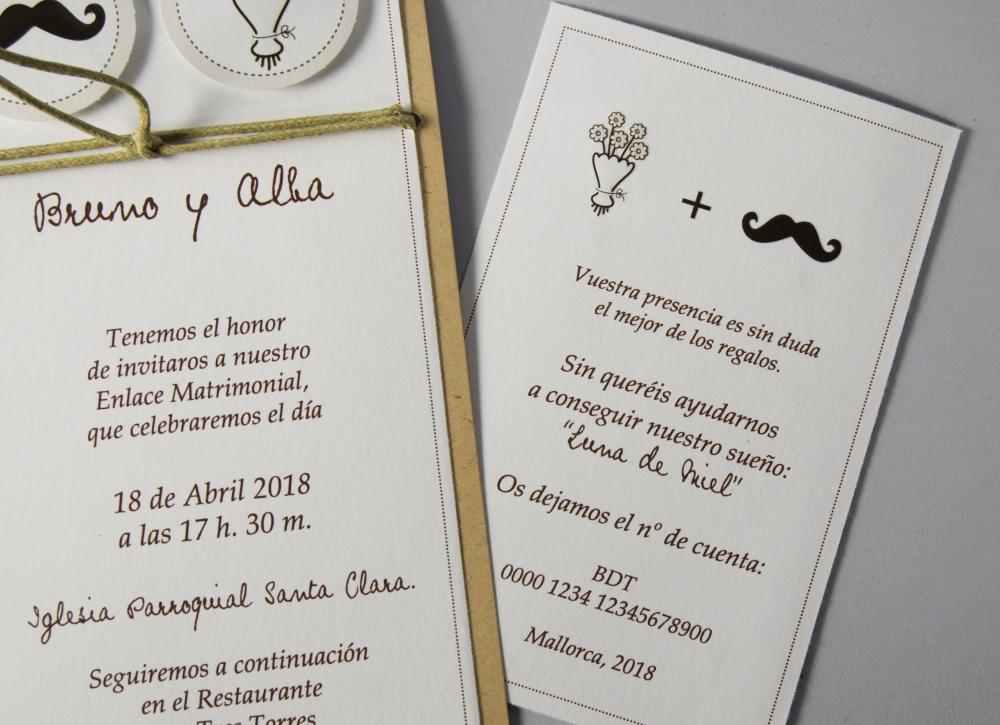 B1611 Invitacion De Boda Tarjetas Detalle Paydi