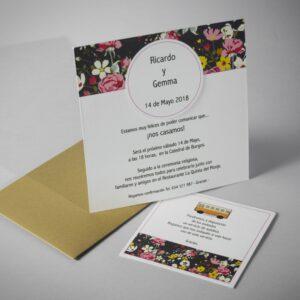 B1613 invitacion de boda abierta