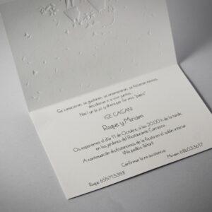 B1614 invitacion de boda abierta