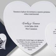 B1616 invitacion de boda tarjetas detalle