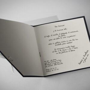 B1618 invitacion de boda abierta
