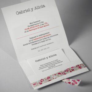 B1620 invitacion de boda abierta