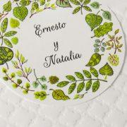 B1623 invitacion de boda detalle