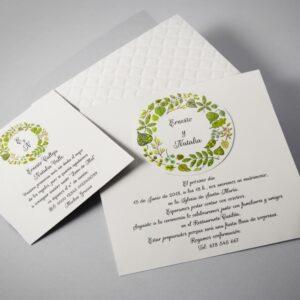 B1623 invitacion de boda tarjetas