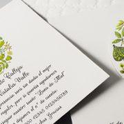 B1623 invitacion de boda tarjetas detalle