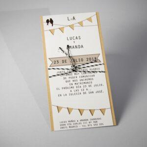 Invitacion de boda B1624