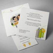 B1625 invitacion de boda abierta