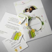 B1625 invitacion de boda abierta tarjetas