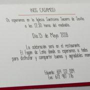 B1626 invitacion de boda abierta detalle
