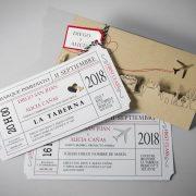 B1627 invitacion de boda abierta