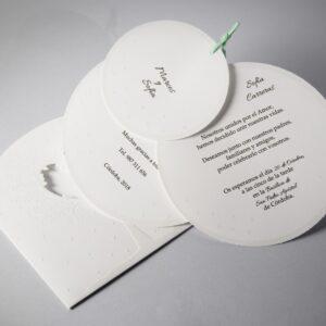 B1630 invitacion de boda tarjetas