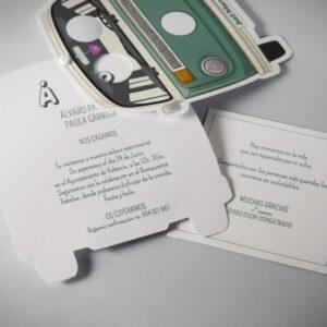 B1632 invitacion de boda abierta