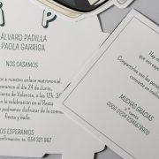 B1632 invitacion de boda abierta detalle