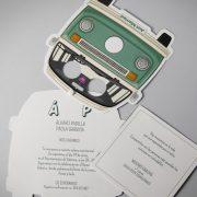 B1632 invitacion de boda abierta tarjetas