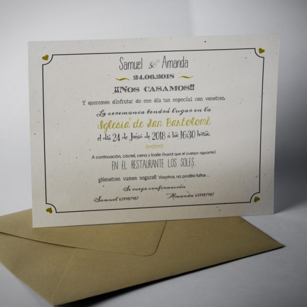 B1633 invitacion de boda