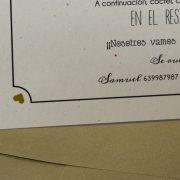 B1633 invitacion de boda detalle