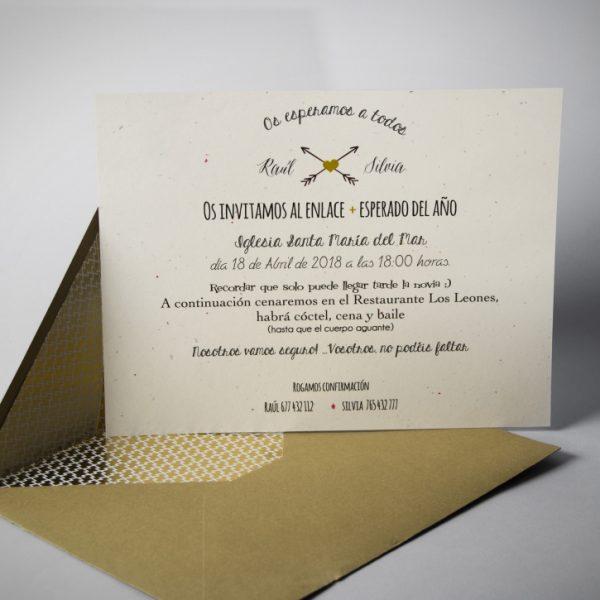B1634 invitacion de boda