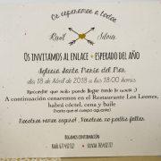 B1634 invitacion de boda tarjeton