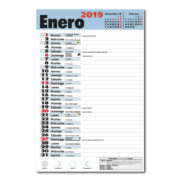 Faldilla Calendario Mensual Notas 235 Lechera Digital