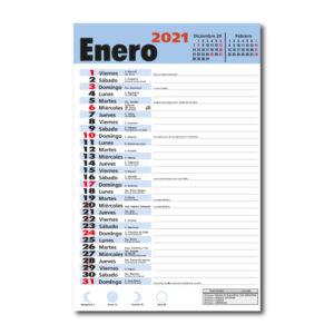 Faldilla Calendario 210 Notas